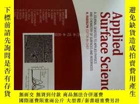 二手書博民逛書店Applied罕見Surface Science (journal) 15 07 2017 應用表面科學學術Y