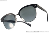 OLIVER PEOPLES 太陽眼鏡 SHAELIE 522287 (黑-銀) 前衛時尚眉框款 # 金橘眼鏡