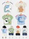 男童短袖 男童短袖T恤夏裝夏季新款童裝兒童寶寶小童半袖1歲3上衣潮牌薄款 歐歐