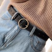 韓國簡約百搭女士寬皮帶配牛仔褲腰帶