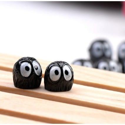 ⓒ龍貓 黑煤球微景觀 5隻一組 多肉植物創意微景觀【A002004】