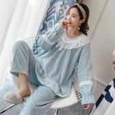 珊瑚絨睡衣女冬加厚加絨法蘭絨公主風甜美可愛套裝家居服春秋冬季 酷男精品館