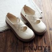 秋季單鞋皮鞋大頭娃娃森林系復古文藝平底厚底女鞋淺口低筒鞋