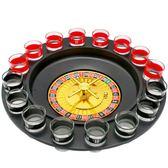 喝酒游戲道具 KTV酒吧夜店娛樂用品輪盤 16杯俄羅斯轉盤游戲