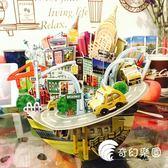 3d立體拼圖模型城市縮影存錢罐倫敦迪拜新加坡巴黎3D紙膜-奇幻樂園