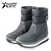 PolarStar 男 保暖雪鞋│雪靴│冰爪 (內厚鋪毛/ 防滑鞋底)雪地靴.非UGG靴.雪地必備『經典灰』 P16627