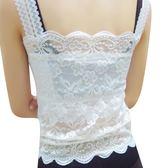 [618好康又一發]夏季女蕾絲花邊吊帶背心帶胸墊抹胸款