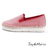 【Joy&Mario】百搭細條紋休閒鞋 - 52016W RED