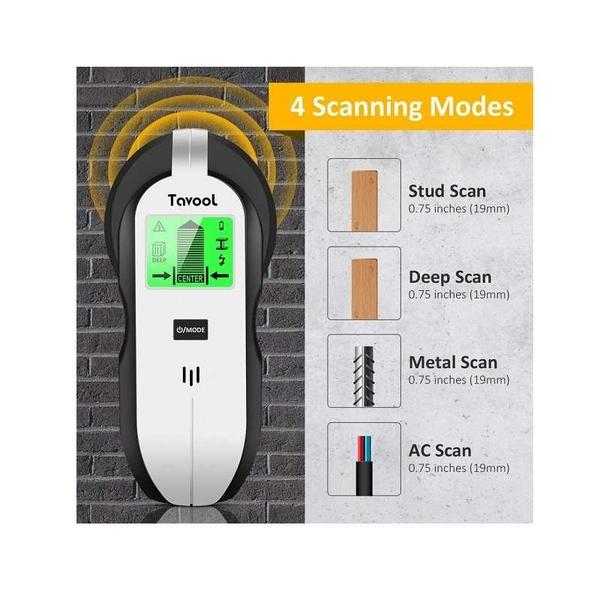 4合1 螺絲掃描儀 LED顯示 Stud Finder Sensor Wall Scanner for Wood AC Wire Metal Studs Joist Detection [9美國直購]