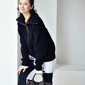 韓版高領拉鏈短款毛衣 純色加厚保暖長袖上衣-夢想家-M8703C-1119