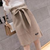 中長裙 冬季新款半身裙中長款裙子修身一布裙