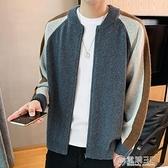 毛衣男士針織衫秋冬新款男夾克開衫休閒時尚線衣潮流韓版百搭外衣 聖誕節免運