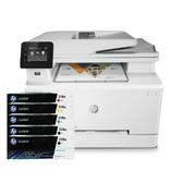 【搭206A原廠碳粉匣二黑三彩】HP Color LaserJet Pro MFP M283fdw 無線雙面彩色雷射傳真複合機