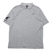 KANGOL 短袖 POLO衫 麻灰 右袖口大LOGO 袋鼠 男 (布魯克林) 6121130212