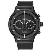 CITIZEN 星辰(CA4405-17H)光動能防水 鈦金屬 時尚 雙眼 男錶