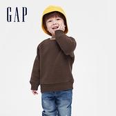 Gap男幼童 簡約風格仿羊羔絨休閒上衣 656949-棕色
