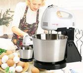 電動烘焙蛋糕打蛋器臺式家用攪拌和面機小型打奶油自動打蛋機帶桶