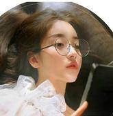 黑五好物節 復古眼鏡框架 原宿 軟妹眼鏡架 潮流時尚男女大黑圓形平光鏡夢想巴士