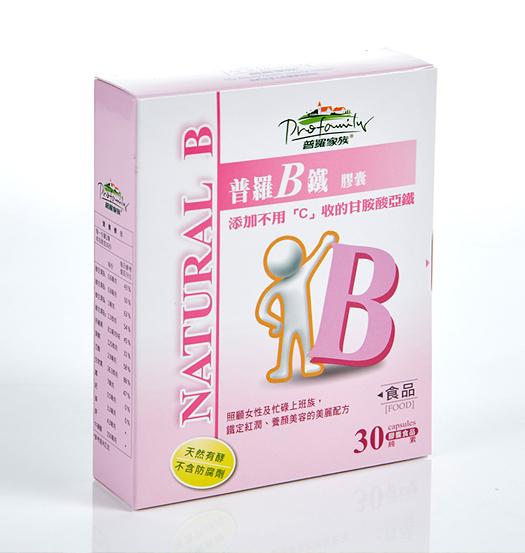 【普羅家族】普羅B鐵 (30顆/盒) 天然啤酒酵母B群/甘胺酸亞鐵/補充鐵質/增強體力
