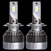汽車led大燈H4H7H1H11燈泡12v高亮前大燈總成h3前霧燈燈光改裝 教主雜物間
