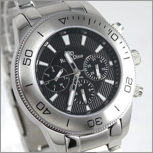 【萬年鐘錶】 Roven Dino 羅梵迪諾 楊丞琳代言 黑男錶 RD615