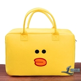卡通旅行包大容量行李袋輕便韓版小清新短途毛氈手提衣物【邻家小鎮】