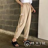 夏2018新款韓版社會港風工裝褲女生帥氣褲子嘻哈bf休閑褲女