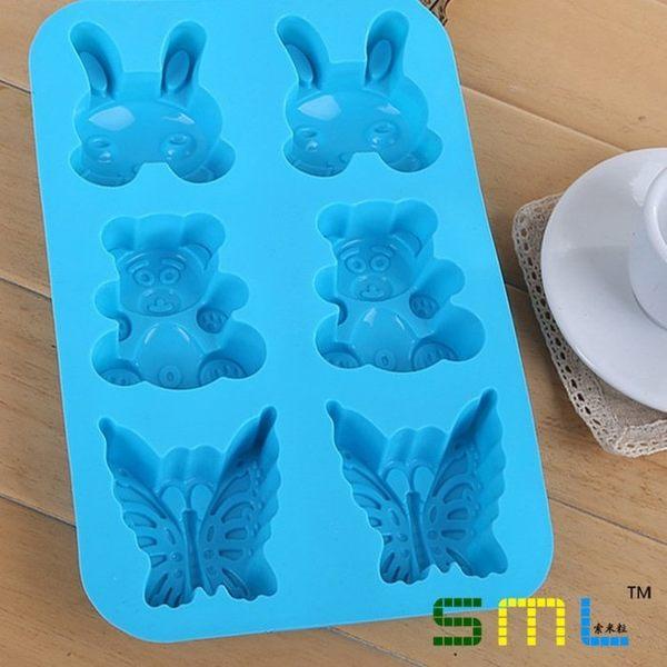 【發現。好貨】夏季冰模小兔小熊蝴蝶動物冰格巧克力 布丁 果凍模具 蛋糕模 超大格