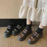 新款復古小皮鞋女學生韓版百搭學院風圓頭平底單鞋