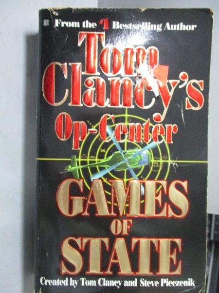 【書寶二手書T8/原文小說_ORE】Tom Clancy s Op-Center_Games of State