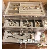 降價兩天-透明桌面首飾盒手錶收納盒耳環耳釘髮卡耳夾小飾品xw
