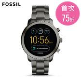 FOSSIL Q EXPLORIS  黑色不鏽鋼觸控螢幕智慧手錶 男