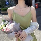 法式吊帶洋裝子夏裝2021年新款設計感小眾收腰雪紡長裙春款女裝 幸福第一站