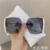 新款歐美超大框氣質黑色墨鏡女大臉顯瘦網紅街拍百搭太陽鏡潮 小艾新品