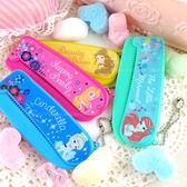 【Disney】彩繪可愛扁型折疊梳 /梳子/隨身梳-公主