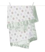 頂級 冬季首選 嬰兒被 Little Giraffe 美國 頂級攜帶毯 - 豪華彩色點點嬰兒毯(灰綠色款)  LXDBKTCE