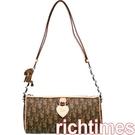 【裕代 Dior】愛心長形側背包(咖) CD057308