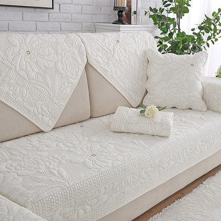 沙發罩沙發墊純棉四季布藝簡約春冬季坐墊現代通用沙發套靠背防滑沙發巾罩LXY6059 『小美日記』