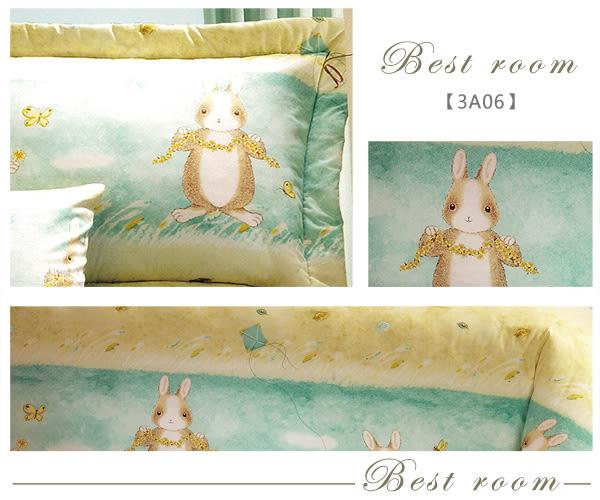 鋪棉床包 100%精梳棉 全鋪棉床包兩用被四件組 雙人特大6x7尺 king size Best寢飾 3A06