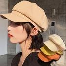 經典純色日系八角帽 百搭棉麻報童帽 造型貝蕾畫家帽 4色【E297513】