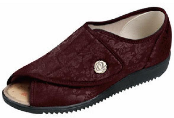 【海夫健康生活館】日本 elder 仕女足樂福趾鞋(顏色:印花紅、印花金)