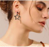 耳環 68361#s925銀針水晶耳環女星星超閃時尚氣質韓國個性潮人百搭日韓D507快時尚