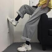 褲子女ins原宿風寬鬆墜感闊腿褲直筒長褲運動休閒褲潮 麥琪精品屋