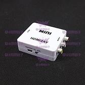 ◤大洋國際電子◢0854 HDMI-101 HDMI TO AV訊號轉換器 USB供電