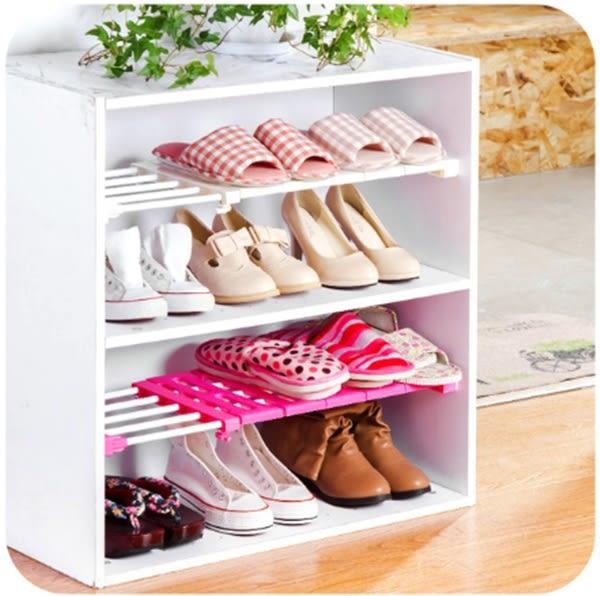 ♚MY COLOR♚櫥櫃分層可伸縮隔板 支架 浴室 廚房 宿舍 免釘 置物 收納 衣櫃 鞋架 (短款)【W33】