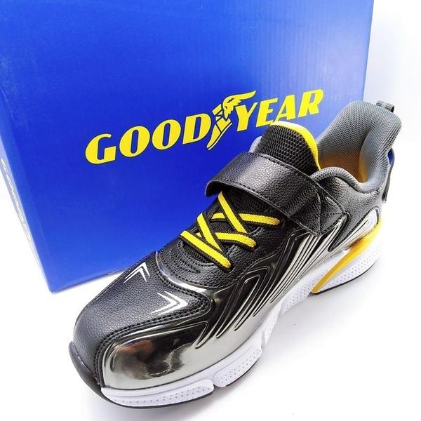 【樂樂童鞋】GOODYEAR輕量緩震運動鞋-銀 G006 - 男童鞋 大童鞋 運動鞋 跑步鞋 休閒鞋 布鞋 學生鞋