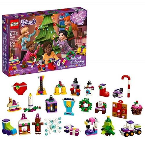 LEGO 樂高 Friends Advent Calendar 41353, Christmas Countdown Calendar for Kids (500 Pieces)