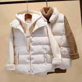 背心外套 寬鬆休閒羽絨棉馬甲女無袖棉坎肩立領包棉背心外套  都市時尚