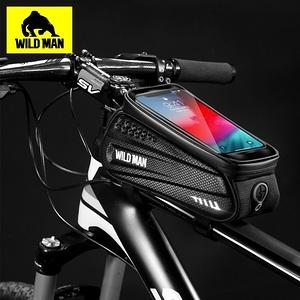WILD MAN 自行車前梁上管袋可觸控手機硬殼防水收納包