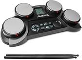 Alesis【日本代購】便攜式電子鼓 搭載教練功能 腳踏板 鼓棒CompactKit4